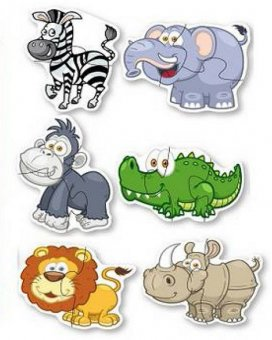 Set 6 puzzle-uri - Animale din Jungla